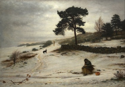 Blow, Blow, Thy Winter Wind, by John Everett Millais