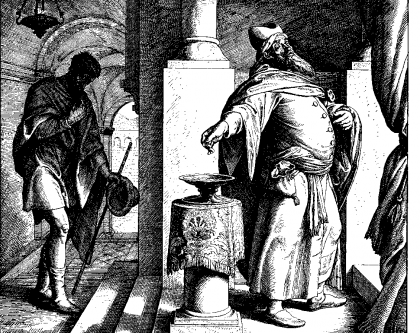 The Pharisee and the Tax Collecter, Julius Schnorr von Carolsfeld